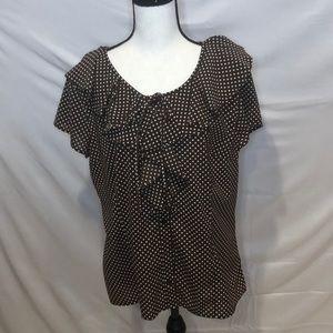 Fred David polka dot blouse. Size XL.
